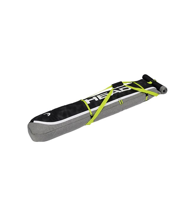 Ski Double Skibag Antracite/Grey-Neon Yellow